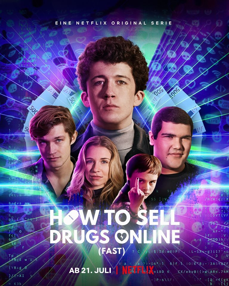 Poster oficial de la segunda temporada de How to sell drugs online Fast
