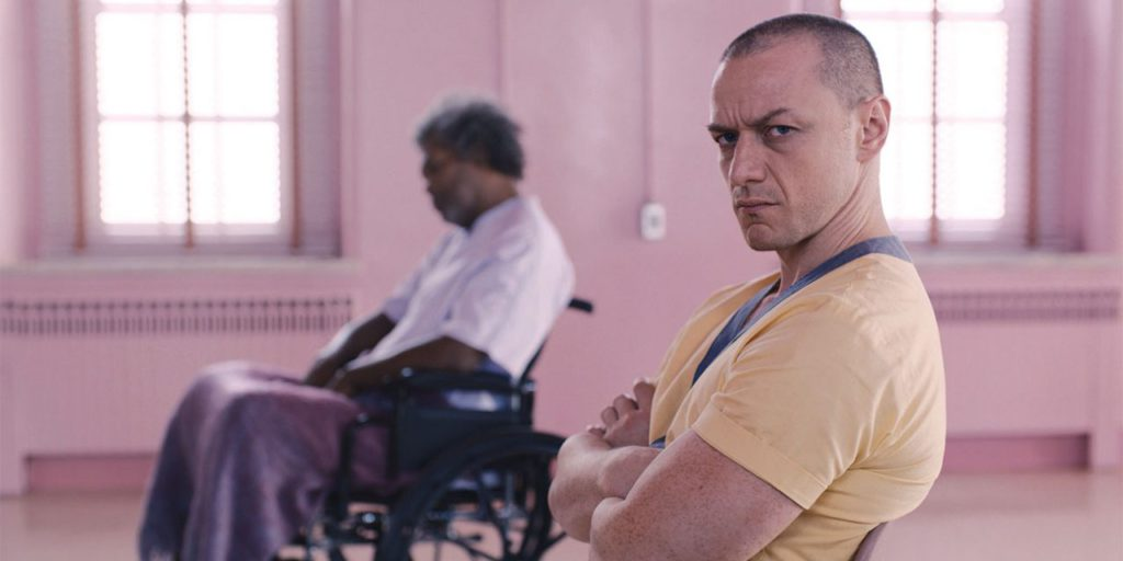 James McAvoy y Samuel L. Jackson en Glass M. Night Shyamalan